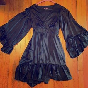Betsey Johnson Black Satin Dress